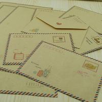 30 pcs/set Mini Retro Vintage Kraft Paper Envelopes Cute Cartoon Kawaii Paper Korean Stationery Gift Free shipping