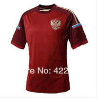 Free ship Best thai quality RUSSIA 2014 world cup yellow home RUSSIA soccer jersey shirt
