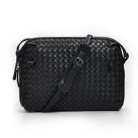 Women's handbag woven bag sheepskin small cross-body bags women's shoulder bag genuine leather bag fashion