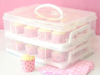 Cupcake Storage Carrier Container Holds 24 Cupcakes or Muffins Great for Parties Portable free shipment