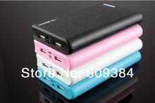 2For Flytouch 6 Cube U18GT Ramos W17Pro 5S ipad 5V 2A 100000mAh Portable External Power Bank Backup Battery Charger 2 USB Ports(China (Mainland))