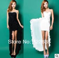 Free shipping  2014 new Europe and the former yarn Bra net long and short wave nightclub Slim sexy women dress nightclub