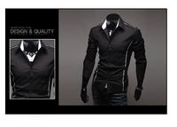 CS22 2014 men's fashion shirt men solid color shirts Autumn Spring men's shirt long-sleeved Casual Shirts men 3 color 5 size