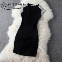 Lovable Secret - Fashion handmade beaded fashion elastic slim one-piece dress l  free shipping