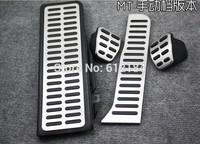 4pcs/set Manual Pedals Fit For Volkswagen VW Passat MK6 NCS Tiguan Cover Clutch Gas Footrest Accelerator Brake pedals Pads