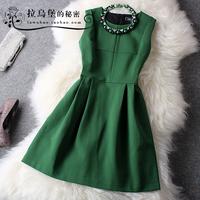 Lovable Secret - Fashion autumn and winter women hot-selling elegant slim sleeveless one-piece dress l  free shipping