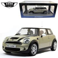 Aotuo autoart mini coopers gold alloy car model