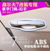 New Volkswagen golf 7 2014 special door bowl golf7 door shake handshandle ABS electroplating modified handle box car styling