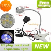 21W Fish Tank Growing Light led Aquarium Coral Reef Bulb 7x3W led Clip Flexible Epileds Grow Lamp 4White 3Blue 60 Degree