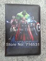Superman SpiderMan Captain America Pattern Leather case for Ipad mini