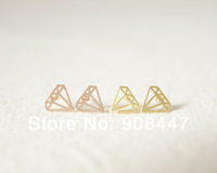 10 PCS/lot- Fashion jewelry 2014 new wholesale gold silver rose men Subulate earrings free shipping