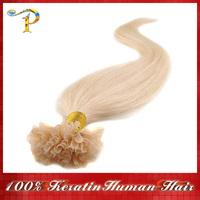 "18"" 20"" 22"" 24""Keratin Nail Stick Nail Tip Virgin Remy Human Hair Extensions 0.5g/1.2g/s 100s/pack Color #60 Free shipping"