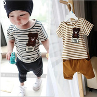 Free shipping 2014 new sets infantis carters spring summer clothing set  child baby twinset casual short-sleeve clothes sets