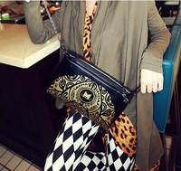 free shipping  hot-selling fashion vintage chain day clutch small cross-body bag women's handbag