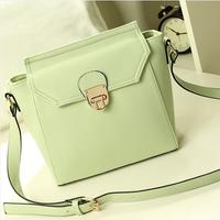free shipping candy color fashion brief women's handbag vintage bag fresh small shoulder bag