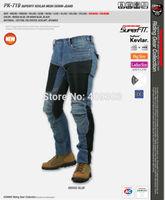 New arrival motorcycle jeans,summer breathable racing pants PK-719 Super Fit Kevlar Mesh Denim Jeans