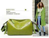 free shipping  fashion vintage one shoulder cross-body female soft surface color block women's handbag big bag