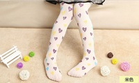 2014 New Design Girls Pantyhose Love Letters Fashion Quality Child Baby Girl Pantynose Pantistocking Tights 2-12 Years 5735261