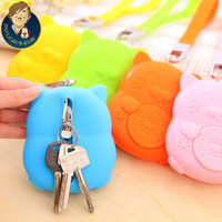 2015 real new freeshipping zipper unisex solid casual 3671 lucky for silica gel female key wallet card holder bus sets clip