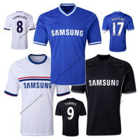 CHEAP CHELSEA JERSEYS 13 14 HOME AND AWAY SOCCER JERSEY 2014 PLAYER LAMPARD SHIRT HAZARD UNIFORMS FOOTBALL THAI QUALITY ORI A+++
