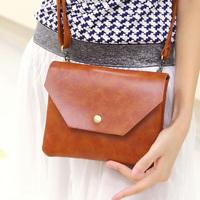 * Genuine leather small velvet bag new arrival vintage mini cross-body bags  women's handbag envelope messenger bag