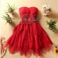 2014 spring women's diamond tube top dress, girls wedding party dresses, vestidos para casamento, girls bridesmaid dress
