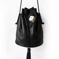 *  women's spring handbag tassel bucket bag brief vintage shoulder bag messenger bag handbag women's