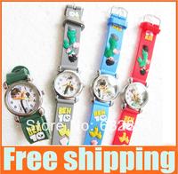 Cartoon Ben 10 ten Students Child Girls Kids Wrist Watch 10 Colors Analog fashion watches wristwatch Free Shipping & Drop shop
