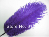 Free shipping 100 pcs/lot 6-8inch(15-20cm) purple ostrich feathers for wedding feather centerpiece Table feather centerpiece