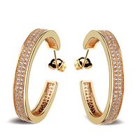 Free shipping 2014 New Arrivals Classic Design Cubic Zirconia Women Hoop Earrings Lead Free Bridal Fashion Wedding Jewelry