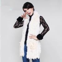 Jonu fur 2014 spring cape rabbit sweater vest knitted vest