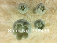 Better quality Cake Mold 4pcs/set DIY Plum Flower Plunger Cutter Mold Sugarcraft Fondant Cake Decorating Tools HG-B20