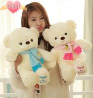 Genuine couple hug bear plush toys 30cm Children Ai Taidi Scarf Scarf Bear Teddy Bear Gift