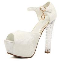 2014 summer new arrival hot sale free shipping women pumps cheap sandals high heel 13.5 Crystal heels