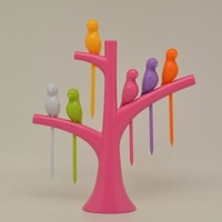 New creative  tree and birds pattern fruit salad fork