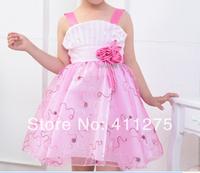 retail girls summer princess dress, children kids lovely clothing girl flowers dresses
