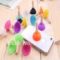 Fashion Phone Holder Mini plunger Silicone Stand Holder For iPhone 5/Samsung Galaxy S3 i9300/HTC All Mobile Phone 3000Pcs/Lot