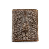 discount 2014 new pattern casual genuine leather men wallet  fashion brand short crocodile male purse  biflod money clip