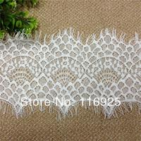 White yarn eyeholes laciness 12cm wide handmade diy clothing accessories lace trim with eyelash