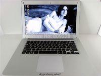 Free Shipping 14.1 inch ultrabook slim laptop computer Intel D2500 1.86GHZ 4GB 500GB WIFI Windows7 windows 8.1 laptop notebook