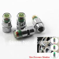 Free shipping 4pcs Car Tyre Tire Pressure Monitor Indicator Valve Stem Cap Sensor 3 Color Eye Alert wholesale Dropshipping