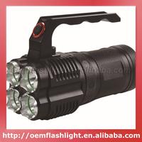 JEXREE 4 x Cree XM-L2 U2 LED 4-Mode Diving Flashlight (4 x 18650) - Black