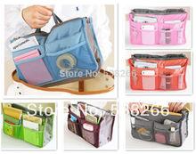 Sac à main double organisateur insérer mp3 téléphone cosmétique stockage sac en Nylon dans le sac(China (Mainland))