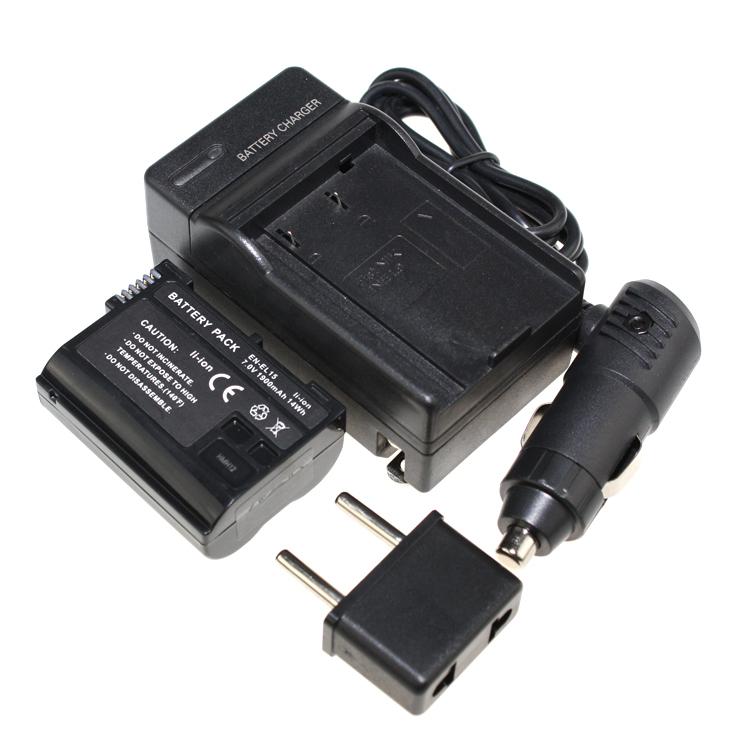 2PCS Battery+Charger EN EL15 EL15 ENEL15 Rechargeable Camera ...