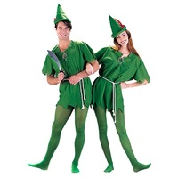 2014 Cos halloween green fairy green robin peter pan peter pan green  Free Shipping