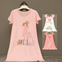 Little girl female child nightgown modal cotton thin summer lounge 2014 children's child summer clothing