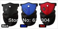 Freeshipping Promotion 3pcs/lot Black red blue Neck Face Warming Mask Bicycle Motorcycle Ski Snowboard Face Mask