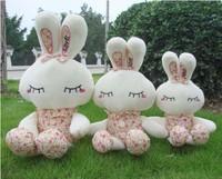 25cm Lovely little bunny stuffed animal toy Cartoon Dolls wedding gifts 3pcs/lot
