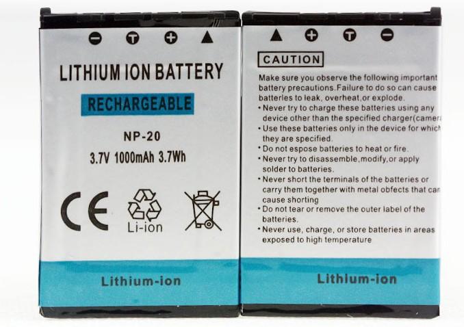 Tianfen 2Pcs NP-20 NP20 NP 20 1000mAh 3.7V Li-ion Camera Battery For CASIO EX-S880 EX-Z6 EX-S880RD Exilim Card EX Zoom Series()