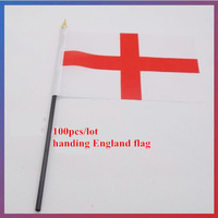 100pcs/lot 14*21CM England Flag handing wave flag Family/Office Home Decoration/Activity/parade/Festival/brazil world cup flag